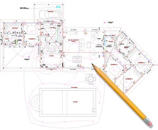 plan maison 170 m2 plain pied ventana blog. Black Bedroom Furniture Sets. Home Design Ideas